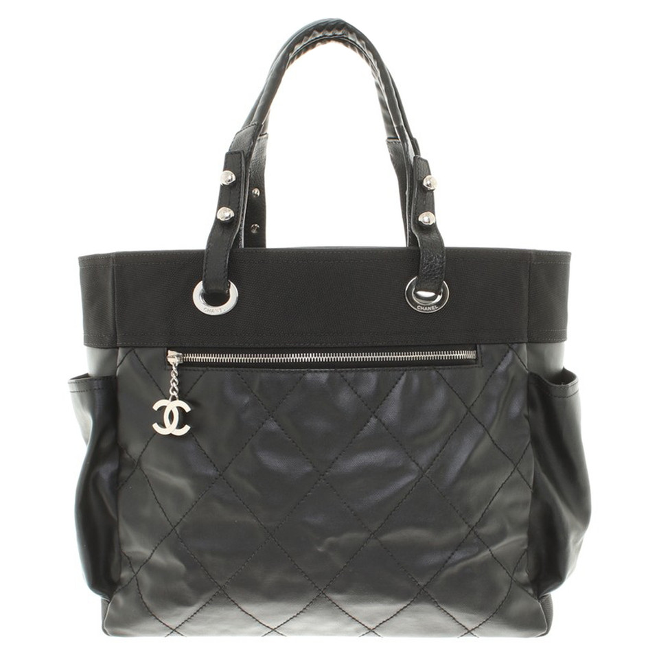 chanel shopper in schwarz second hand chanel shopper in. Black Bedroom Furniture Sets. Home Design Ideas