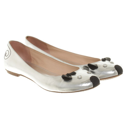 Marc by Marc Jacobs Ballerinas in Silber