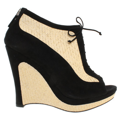 Fendi Wedges in Schwarz/Beige