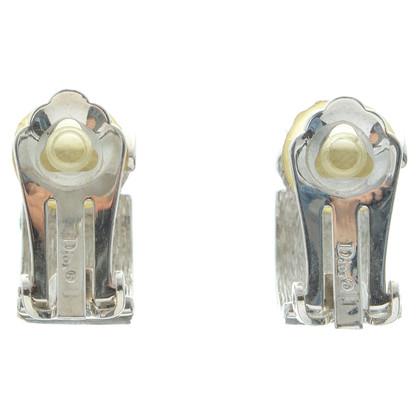 Christian Dior Zilveren clip oorbellen