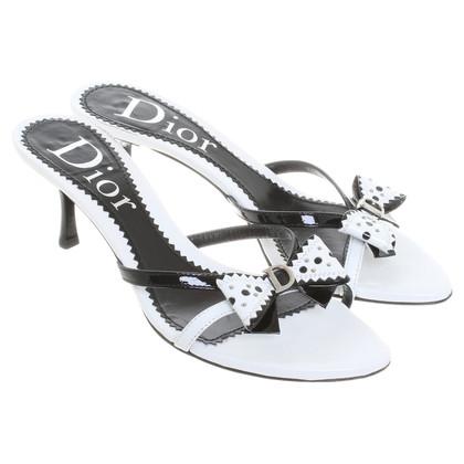 Christian Dior Mules met slijpen detail