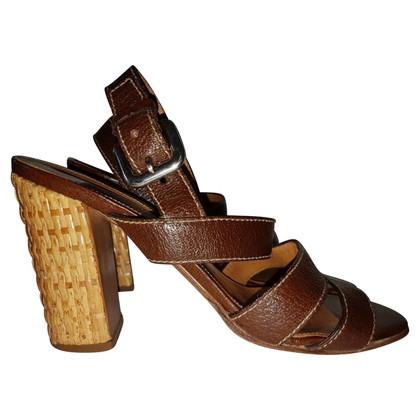 Prada Sandaletten mit Bastabsatz