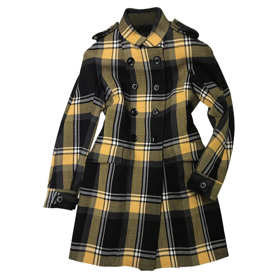 burberry prorsum karierter mantel second hand burberry. Black Bedroom Furniture Sets. Home Design Ideas