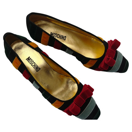 Moschino Multicolored velvet shoe