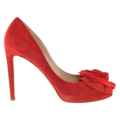 Valentino Peeptoes in red