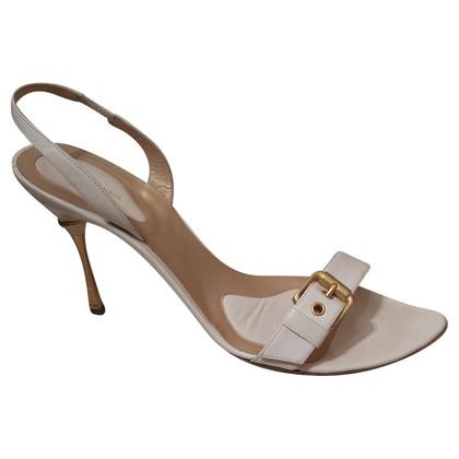 Bottega Veneta Weiße Sandaletten