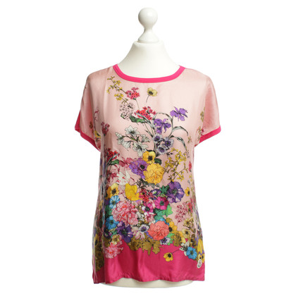 Moncler T-shirt con stampa floreale