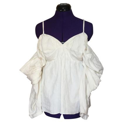 J.W. Anderson Off-Shoulder-Bluse in Creme