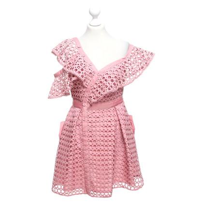 Self-Portrait Dress in Pink