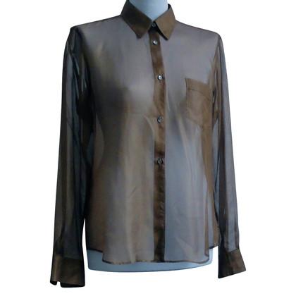 Jil Sander Transparent silk blouse