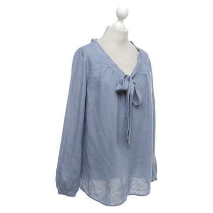 0039 Italy Linen blouse in blue
