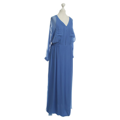 Kaviar Gauche Long silk dress in light blue