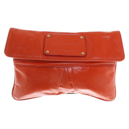 Marc Jacobs Leather clutch in orange