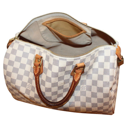 "Louis Vuitton ""Speedy 35 Damier Azur Canvas"""