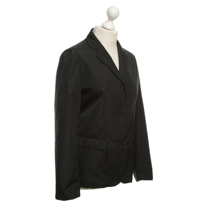Prada Gevoerde jas in zwart