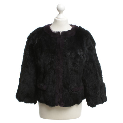 Stefanel Fur jacket in bicolor