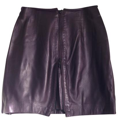 Marc Cain Purple leather skirt