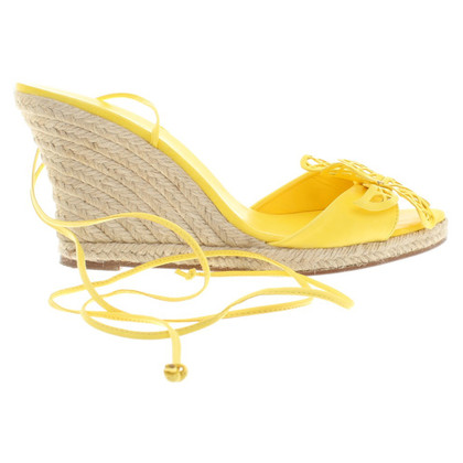 Céline Wedges in yellow