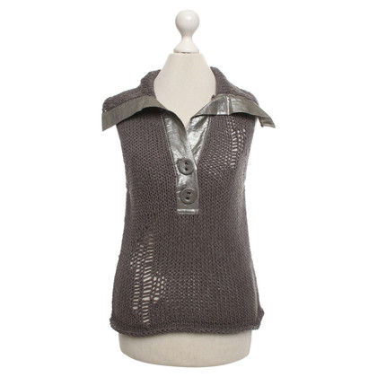 Luisa Cerano Knitted top in khaki