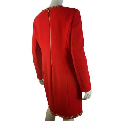 Michael Kors Rossetto rosso abito con dettagli dorati
