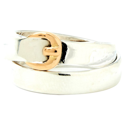 Hermès Ring in silver / yellow gold