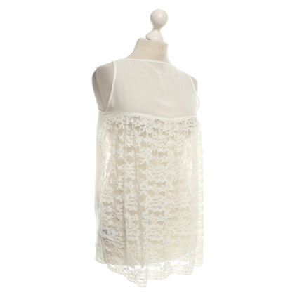 Patrizia Pepe Lace top in wit