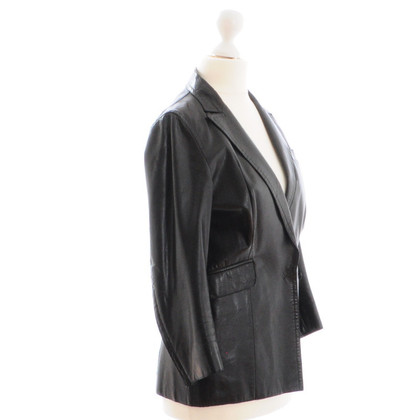 Costume National Schwarze Lederjacke