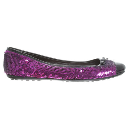 Car Shoe Ballerine in viola