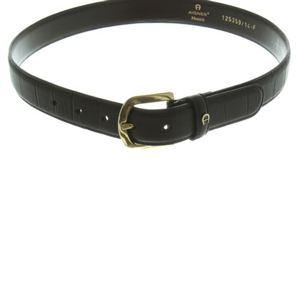 Aigner Belt dark brown