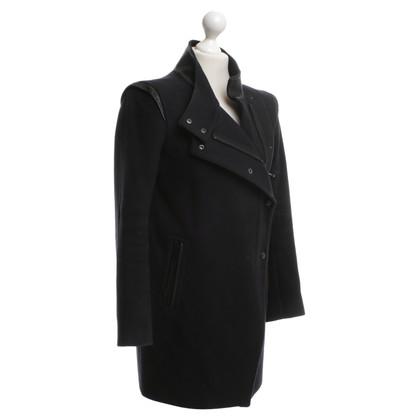 Sandro Wool coat in dark blue