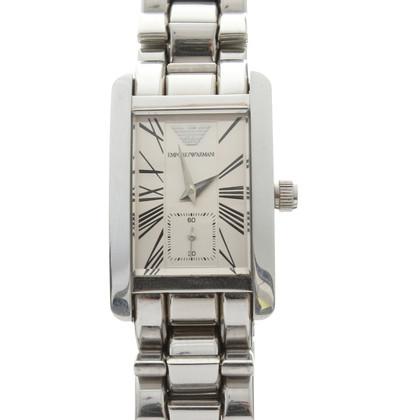 Armani Zilveren Toon horloge