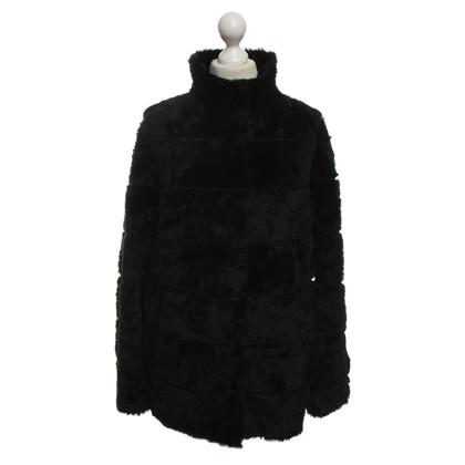 Andere merken Christ - lamsvel jas in zwart