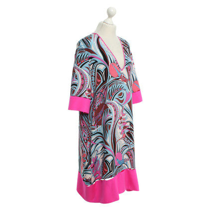Emilio Pucci zijden jurk met kleurrijke patronen