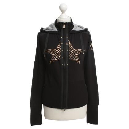 Bogner Sweatshirt-Jacke in Schwarz
