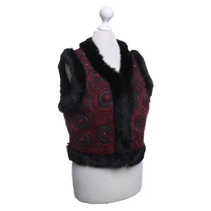 Antik Batik Vest with fur trim