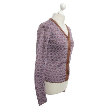 Marni Cardigan with diamond pattern