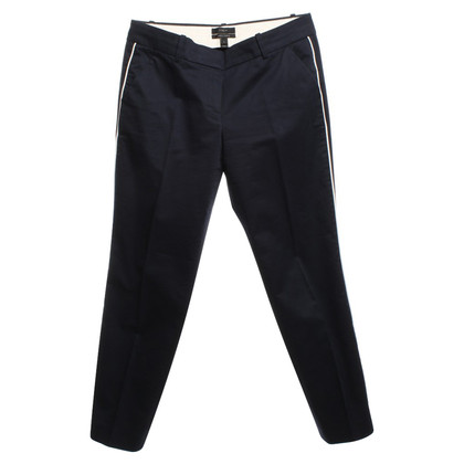 J. Crew Pantaloni con piping bianco