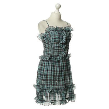 Marc Jacobs Geruite geplooide jurk