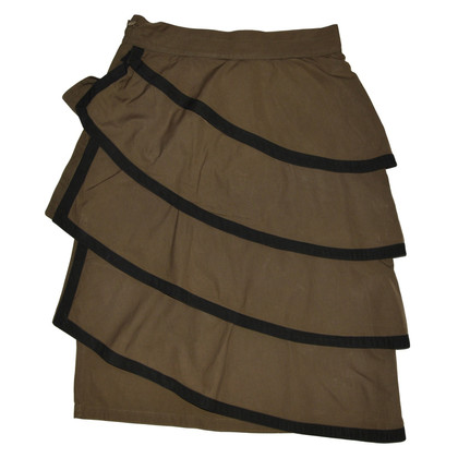 Gianni Versace Brown Vintage Cotton Skirt