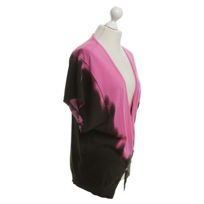 John Galliano Cardigan en Bicolor
