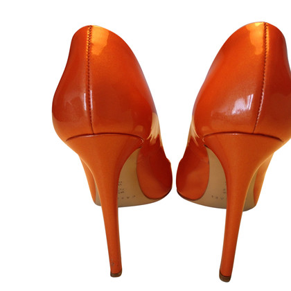 Casadei Patent leather pumps in Orange