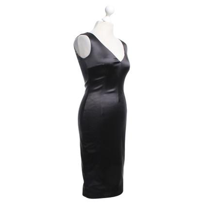 Dolce & Gabbana Satijnen jurk in Petrol