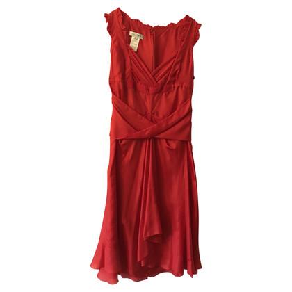 Céline Robe en soie rouge