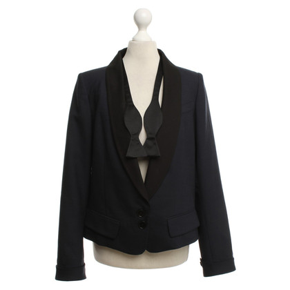 Tara Jarmon Tuxedo blazer in dark blue