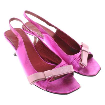 Miu Miu Sandaletten mit Metalliceffekt