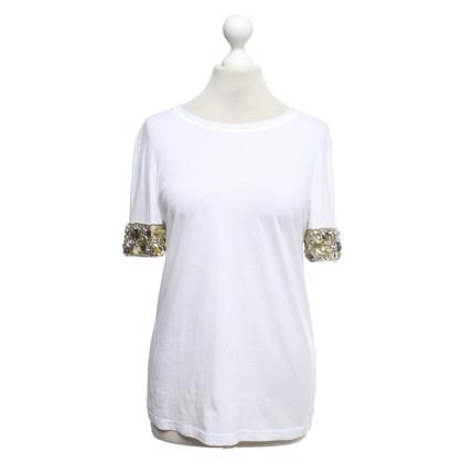 Tory Burch T-shirt con finiture in pietra preziosa