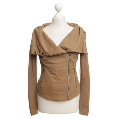 Muubaa Suede jacket in brown