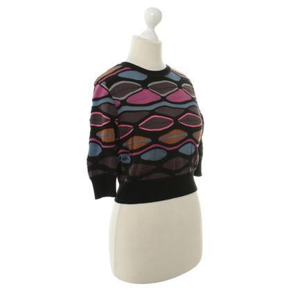 Missoni Kurzer Pullover mit Muster-Prägung