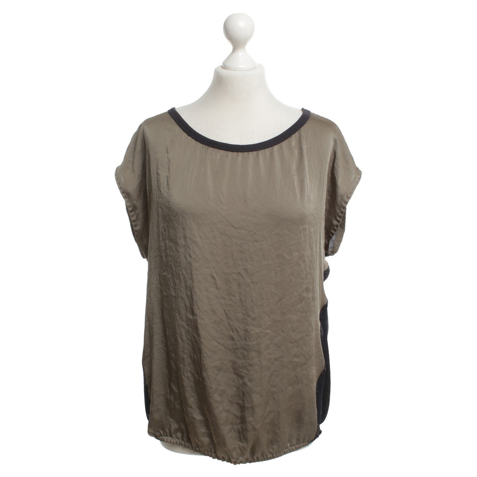 Marc Cain Top in Khaki / Blue