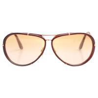 Tom Ford Brown Cyrille aviator sunglasses